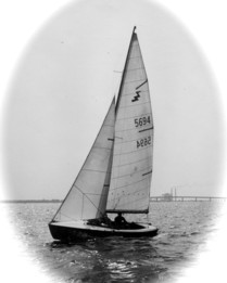 Lightning sailboat photographed in 1959